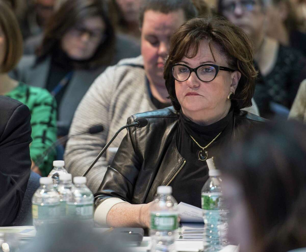 New York State Education Commissioner MaryEllen Elia attends a New York State Board of Regents meeting on Monday, Nov. 13, 2017, in Albany, N.Y. (Skip Dickstein/ Times Union)
