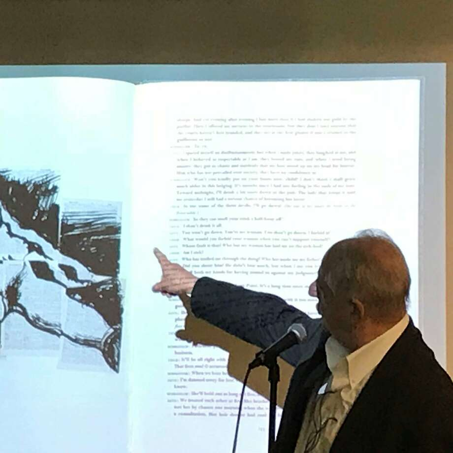 "William Kentridge and ""Lulu"" at Arion Press Photo: Leah Garchik, San Francisco Chronicle"