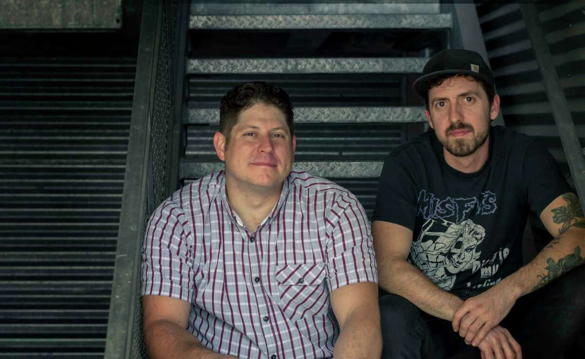 Sean Jensen, left and chef Jason Vaughan are partners in Nancy's Hustle, a new wine bar and bistro coming to 2704 Polk in EaDo by end of November.