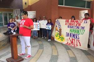 Undocumented immigrants and allies gathered in protest of Senate Bill 4 as it was being heard in the Court of Appeals while elections kicked off Nov. 7.
