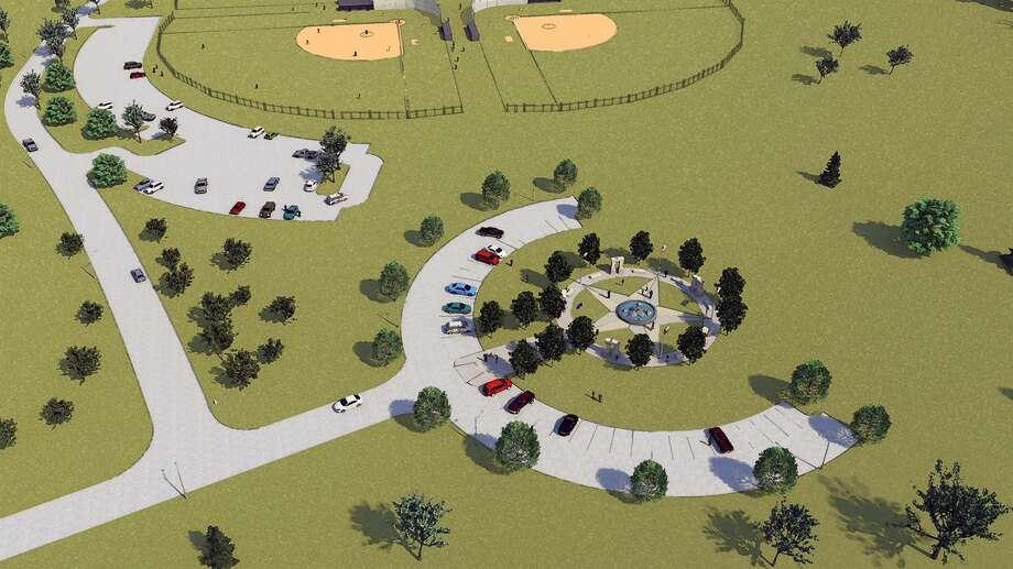 This concept showcases Missouri City's future Veterans Memorial. Recently, the 501c3 Parks Foundation approved the memorial as the signature and kickoff project for the City Hall Placemaking initiative. Photo: Courtesy Of Missouri City