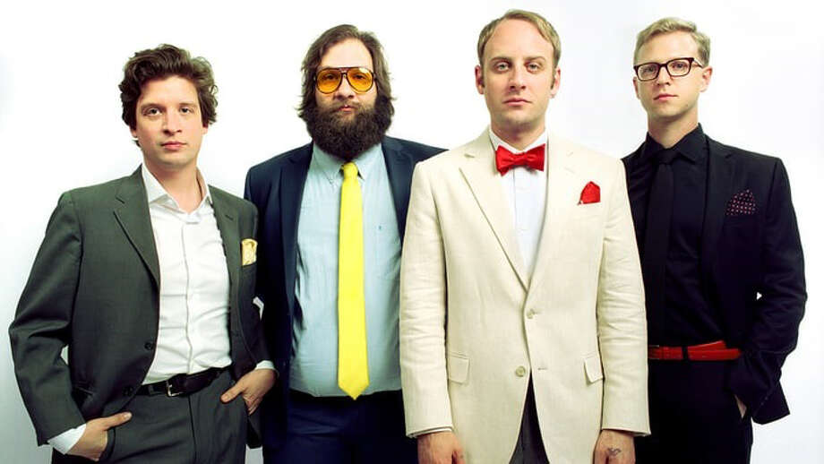 The band Deer Tick includes vocalist John McCauley, guitarist Ian O'Neal, bassist Chris Ryan and drummer Dennis Ryan. Photo: Courtesy Photo