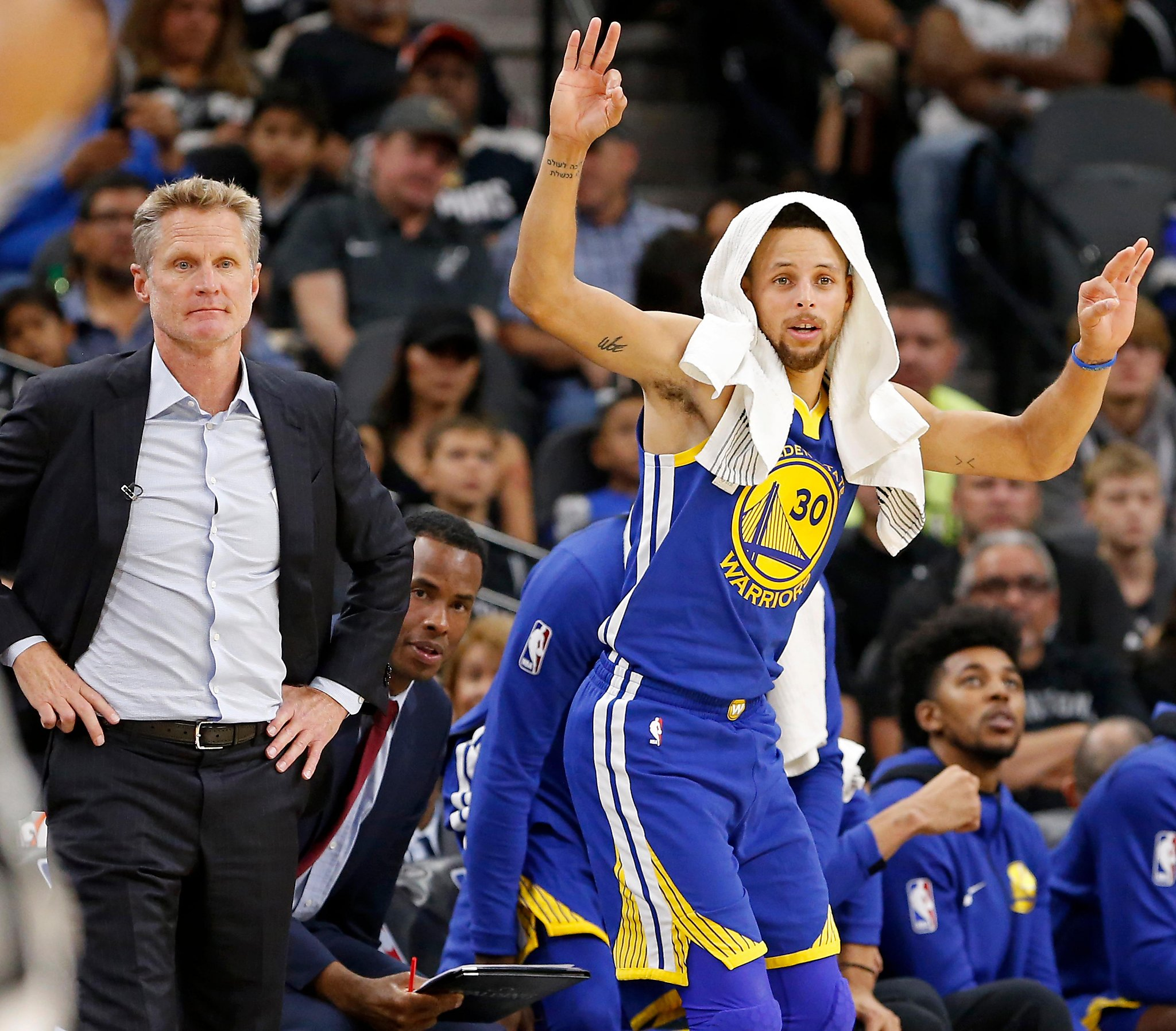Warriors Record Without Stephen Curry 2017: Warriors' Stephen Curry Misses Shootaround, Still