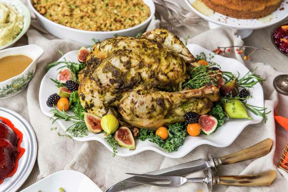 Herb Roasted Turkey in Three Steps from Jim Mills. Styled by Carla Buerkle. Photo: Julie Soefer / Julie Soefer