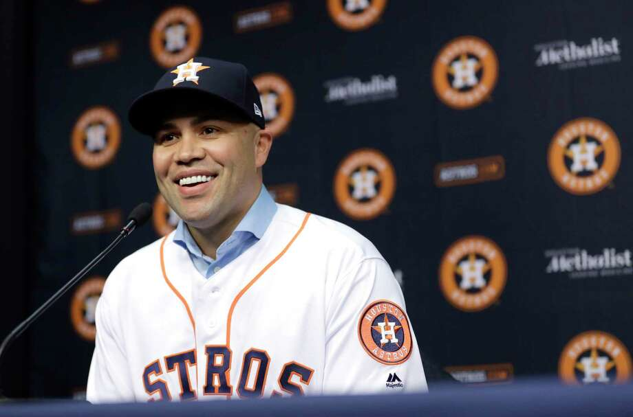 Carlos Beltran is retiring after winning his first World Series title in his 20th major league season. The 40-year-old made the announcement Monday, Nov. 13, 2017, 12 days after the Houston Astros beat the Los Angeles Dodgers in Game 7 of the World Series. Photo: David J. Phillip, STF / Copyright 2016 The Associated Press. All rights reserved.