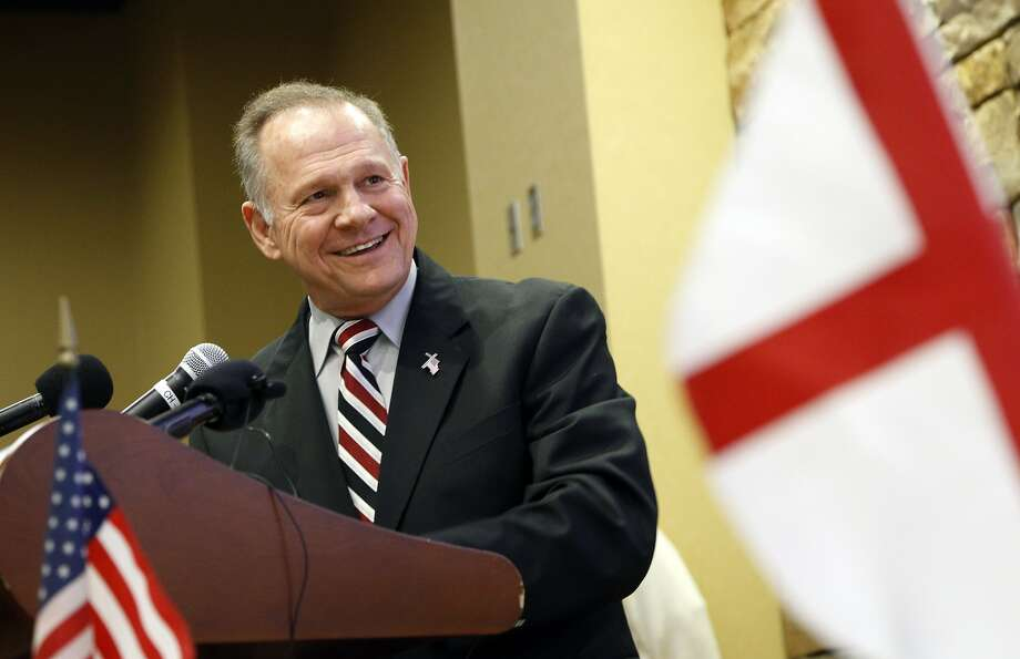 Former Alabama Chief Justice and U.S. Senate candidate Roy Moore speaks at the Vestavia Hills Public library, Saturday, Nov. 11, 2017, in Vestavia Hills, Ala. According to a Thursday, Nov. 9 Washington Post story an Alabama woman said Moore made inappropriate advances and had sexual contact with her when she was 14. Moore is denying the allegations. (AP Photo/Hal Yeager) Photo: Hal Yeager, Associated Press