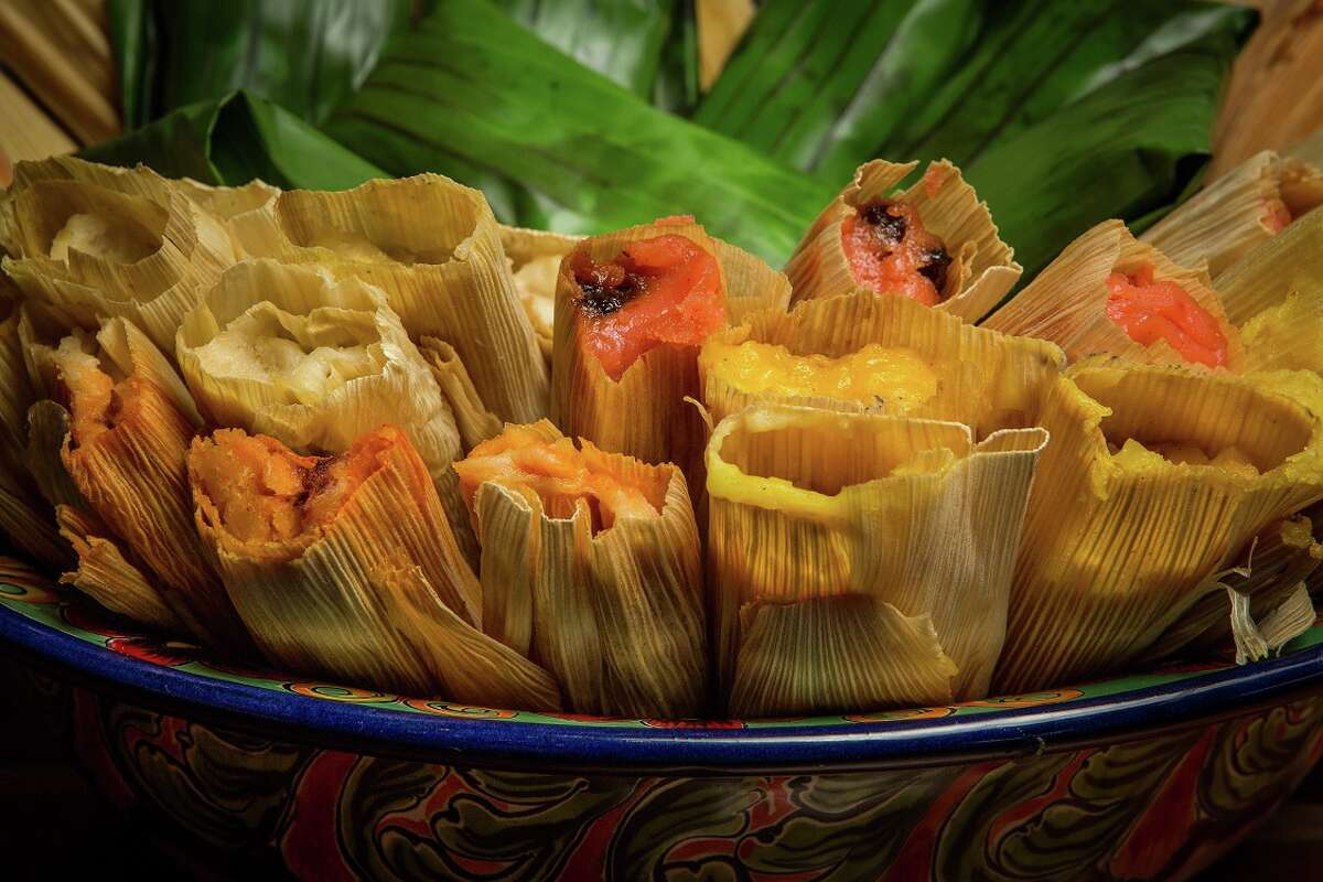 Assorted savory and sweet tamales from Arnaldo Richards' Picos, which begins its annual holiday tamale sales from its tamale stand on Kirby on Nov. 15.