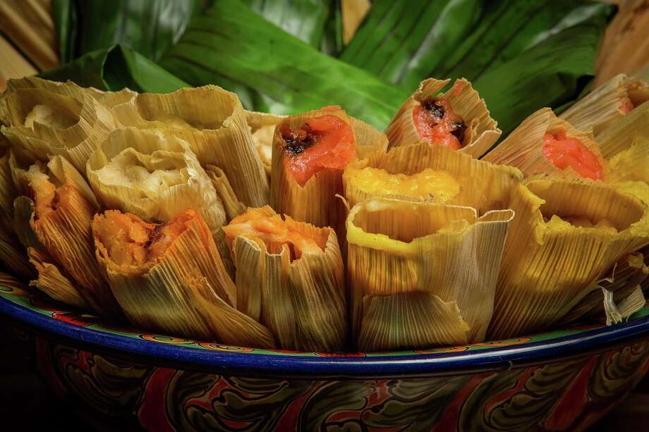Assorted savory and sweet tamales from Arnaldo Richards' Picos, which begins its annual holiday tamale sales from its tamale stand on Kirby on Nov. 15. Photo: Nick De La Torre