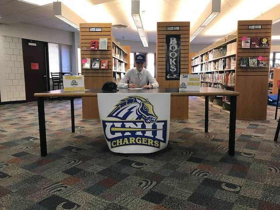 Cromwell's Noah Budzik recently signed a National Letter of Intent to play baseball at the University of New Haven. Photo: Submitted