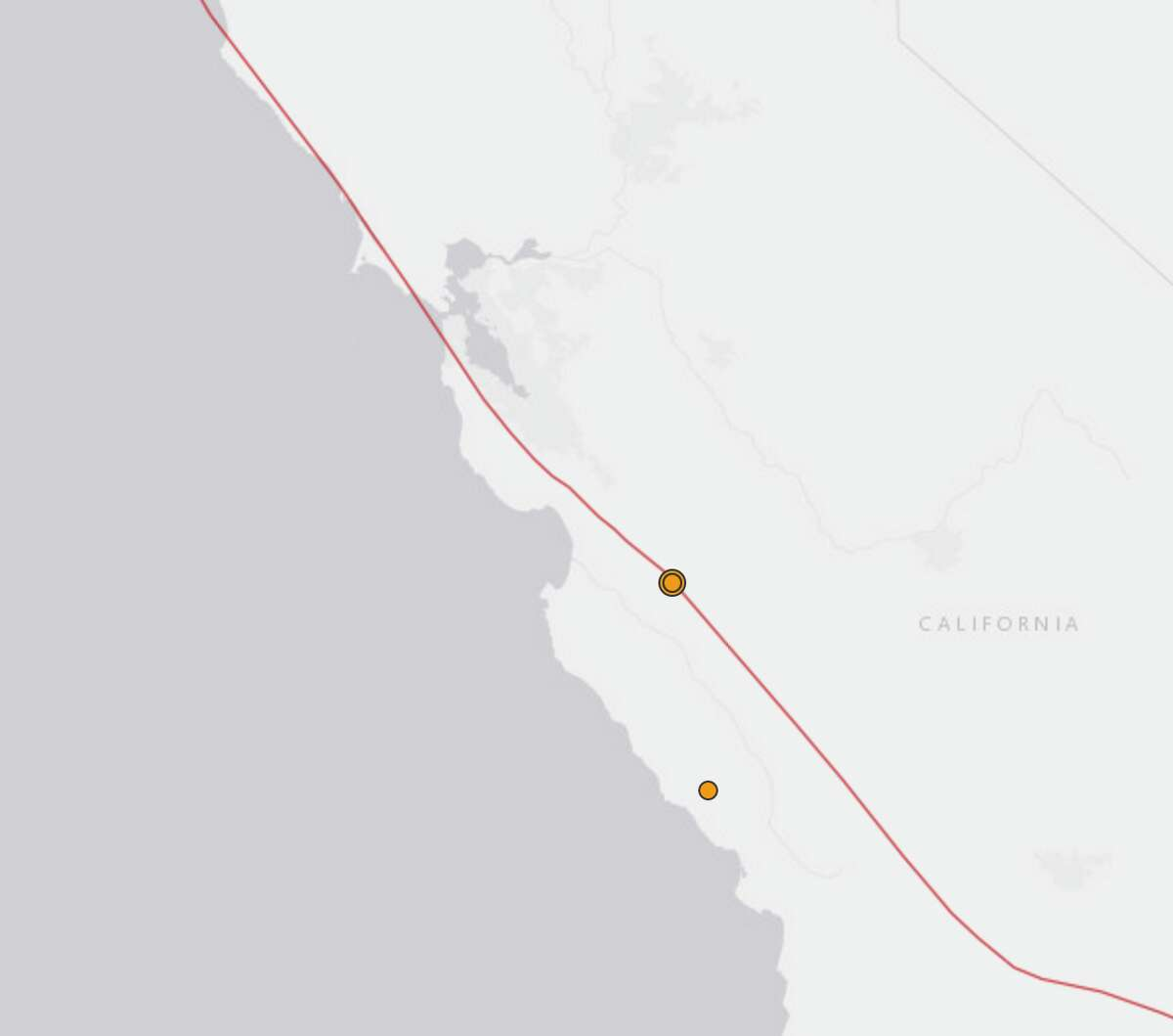 A 4.6 magnitude earthquake and a series of smaller aftershocks shook Monterey County Monday, officials said. Screenshot/USGS