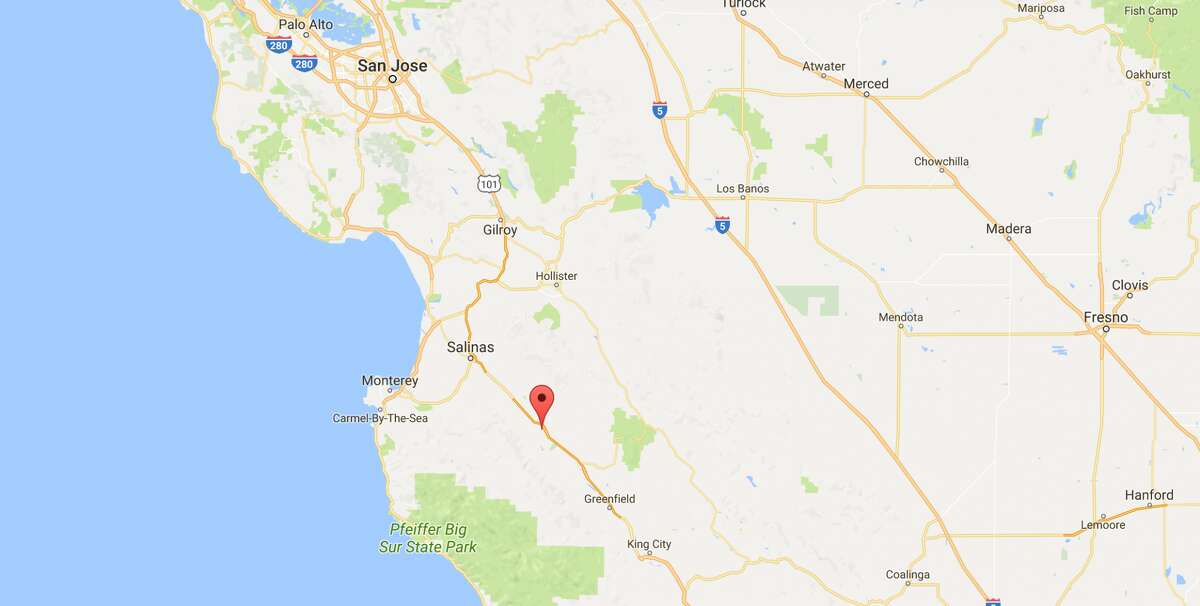 A 4.6 magnitude earthquake and a series of smaller aftershocks shook Monterey County Monday, officials said. Screenshot/Google Maps