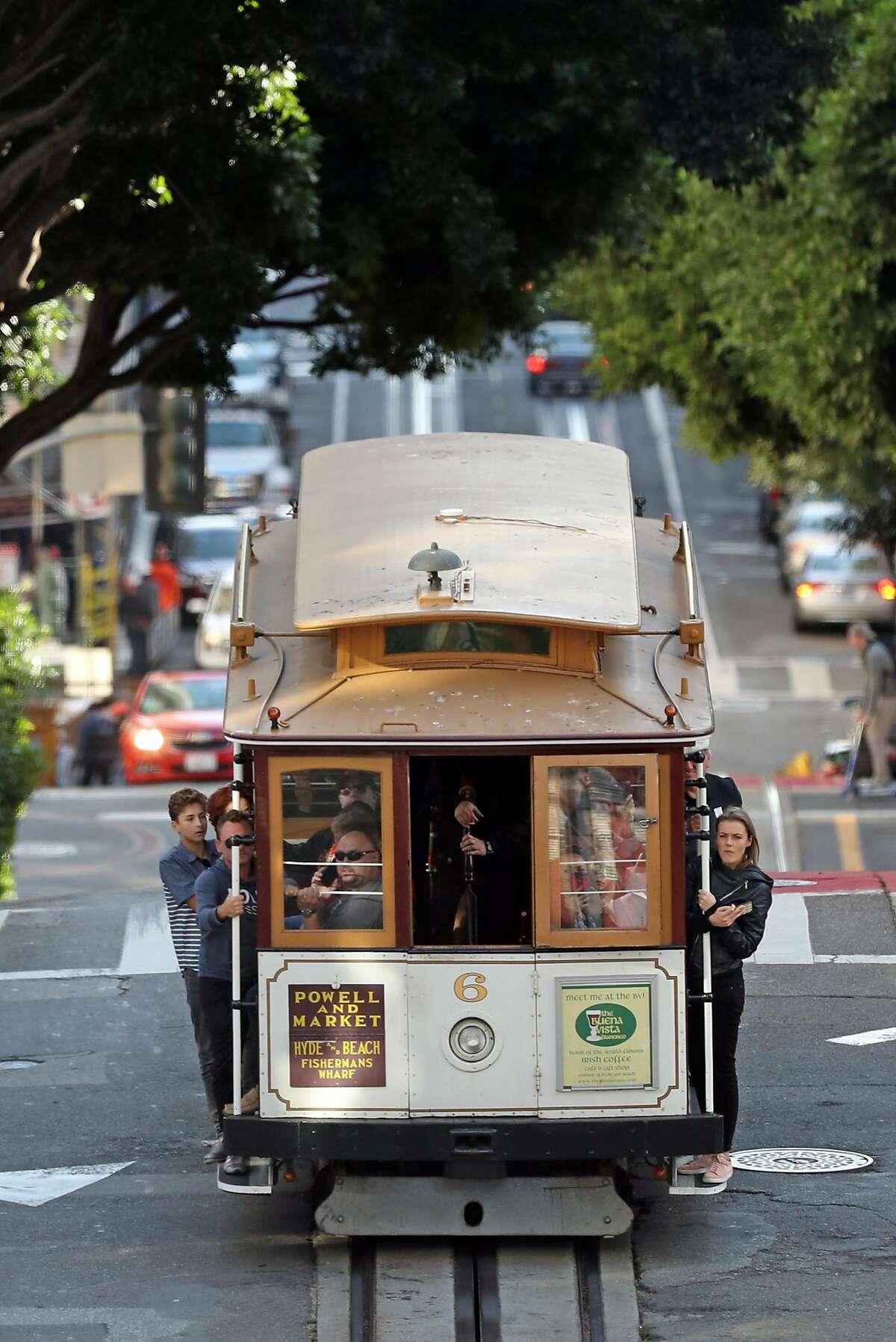 Cable Car on California Street in San Francisco, Calif., on Thursday, November 2, 2017.