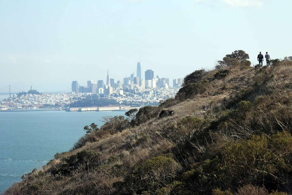 View of San Francisco, Calif., from the Marin Headlands, where there are plenty of places to hike with amazing views.