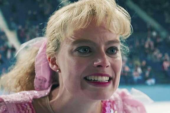 "Margot Robbie as Tonya Harding in ""I, Tonya."""