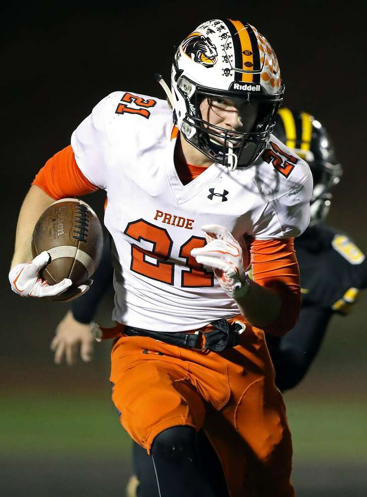 Senior running back Chase Hofmann has rushed for nearly 800 yards and 29 touchdowns in 10 games for unbeaten and 16th-ranked Half Moon Bay.