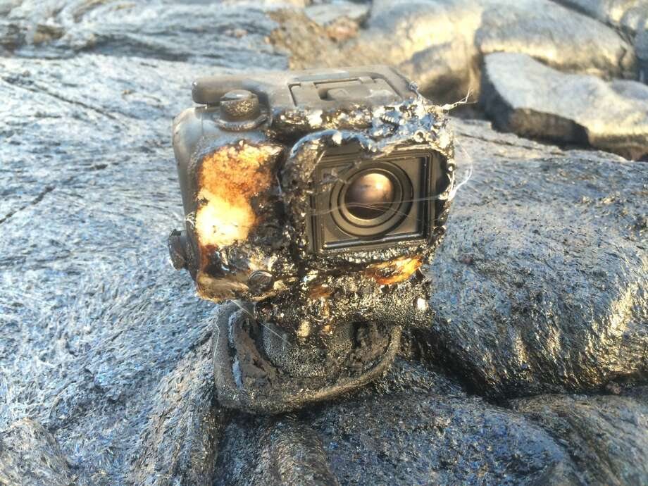 A GoPro camera was engulfed by lava on Kilauea volcano. It managed to keep recording the entire time.Credit: Kilauea EcoGuides Photo: Kilauea EcoGuides