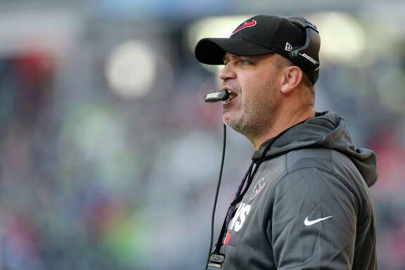 Houston Texans head coach Bill O'Brien seen on the sideline during the fourth quarter of the game against the Seattle Seahawks at CenturyLink Field Sunday, Oct. 29, 2017, in Seattle. The Seahawks won 41-38. ( Godofredo A. Vasquez / Houston Chronicle )