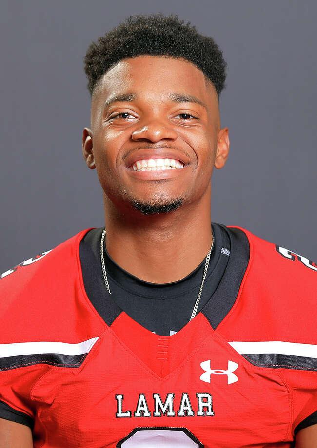 Brandon Dabney, Lamar Cardinal football. (Photo provided by Lamar Athletics) / DotsOfLight.info & Jeff Kellum