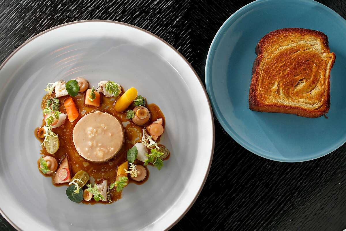 Foie gras tourchon at the Villon restaurant in the Proper Hotel on Wednesday, November 8, 2017, in San Francisco, Calif.