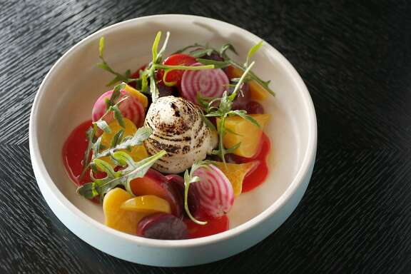 Beet salad at the Villon restaurant in the Proper Hotel on Wednesday, November 8, 2017, in San Francisco, Calif.