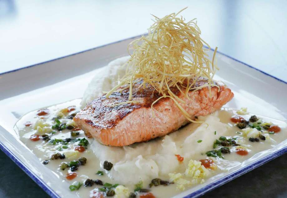 Star Fish serves a sublime Ora King salmon with ravigote butter and fried capers. Photo: Melissa Phillip, Houston Chronicle / © 2017 Houston Chronicle