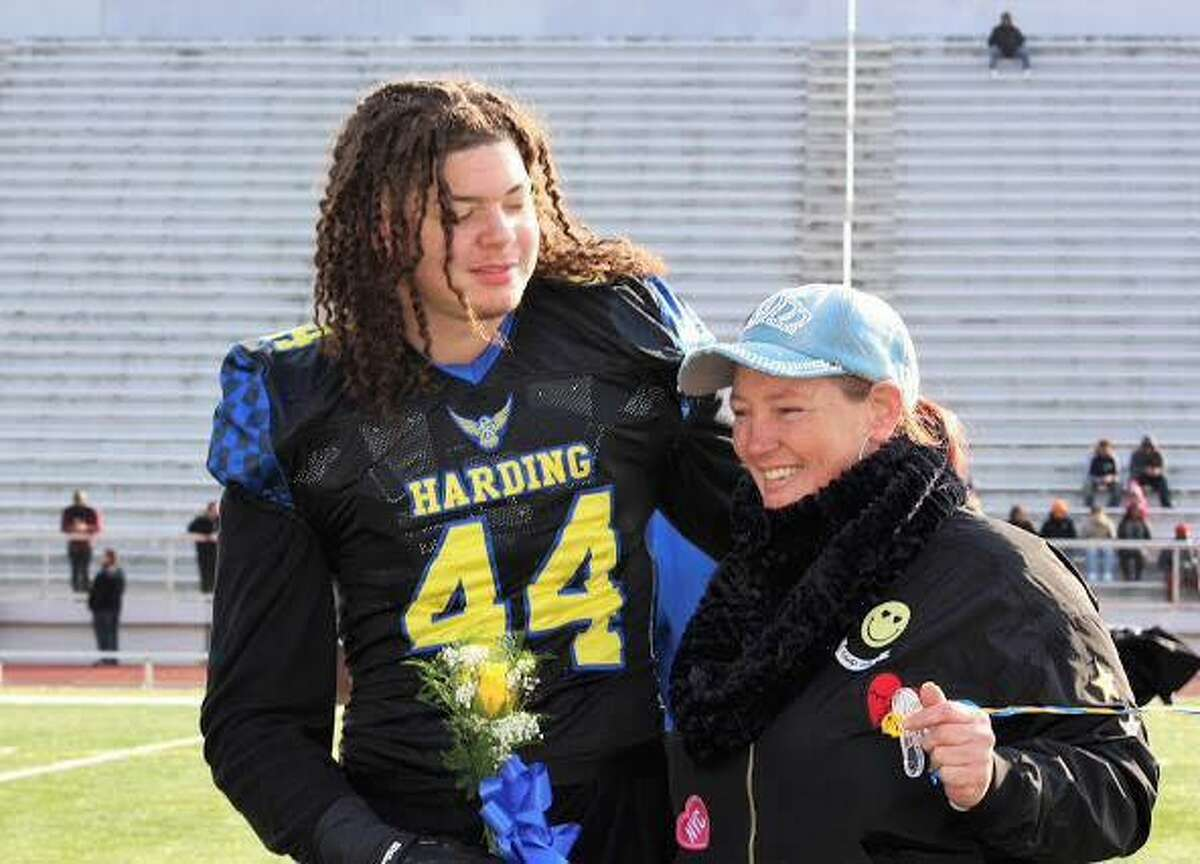 Aaron Kearney, left, is a 2017 Graduate of Harding High School and was member of the school's football team. Credit:Contributed