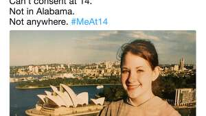 Twitter users post photos of themselves captioned #MeAt14 in response to allegations that Senate candidate Roy Moore dated a 14-year-old girl.
