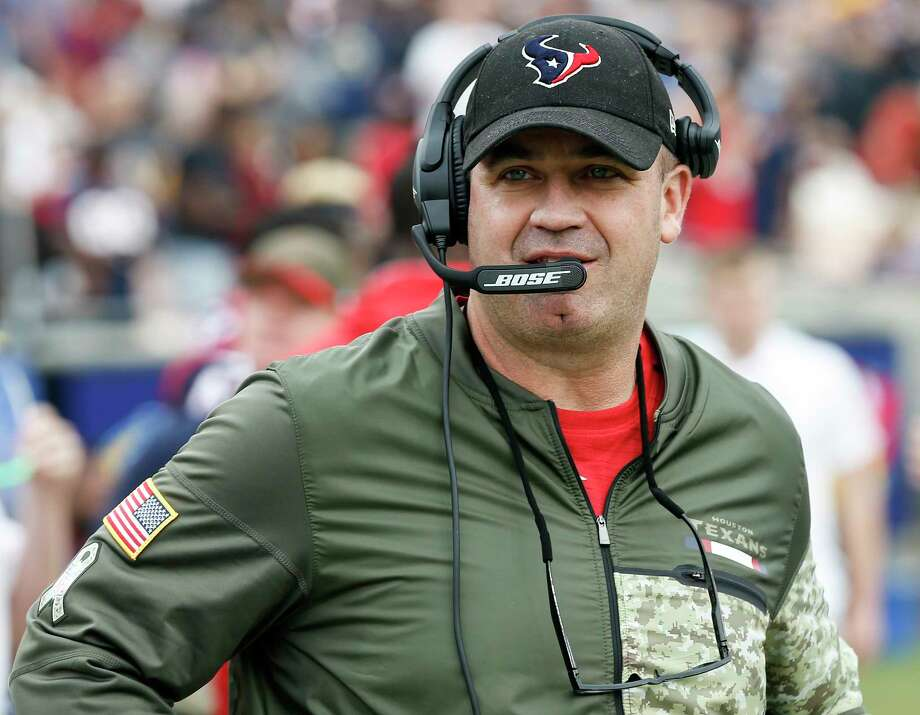 Houston Texans head coach Bill O'Brien walks up the sidelines during the first quarter of an NFL football game at the Los Angeles Memorial Coliseum on Sunday, Nov. 12, 2017, in Los Angeles, Mass. ( Brett Coomer / Houston Chronicle ) Photo: Brett Coomer, Staff / © 2017 Houston Chronicle
