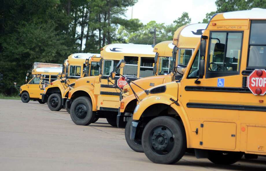Conroe ISD is preparing to spend close to half a million dollars toward the purchase of 15 used school buses to add to its 522-bus fleet. Photo: David Hopper, Freelance / freelance