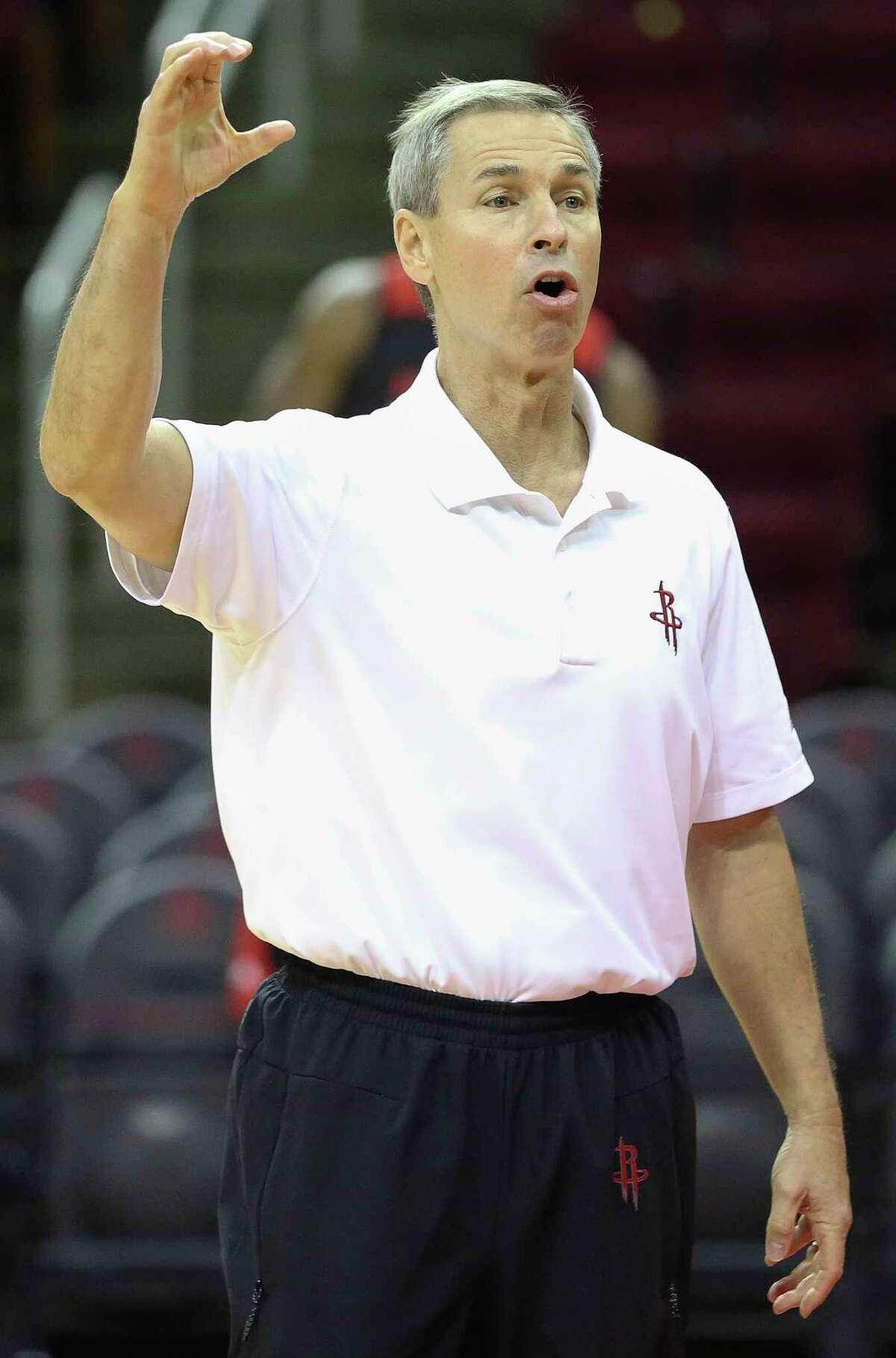 Associate head coach Jeff Bzdelik's defensive philosophy has been drilled into the Rockets' heads.