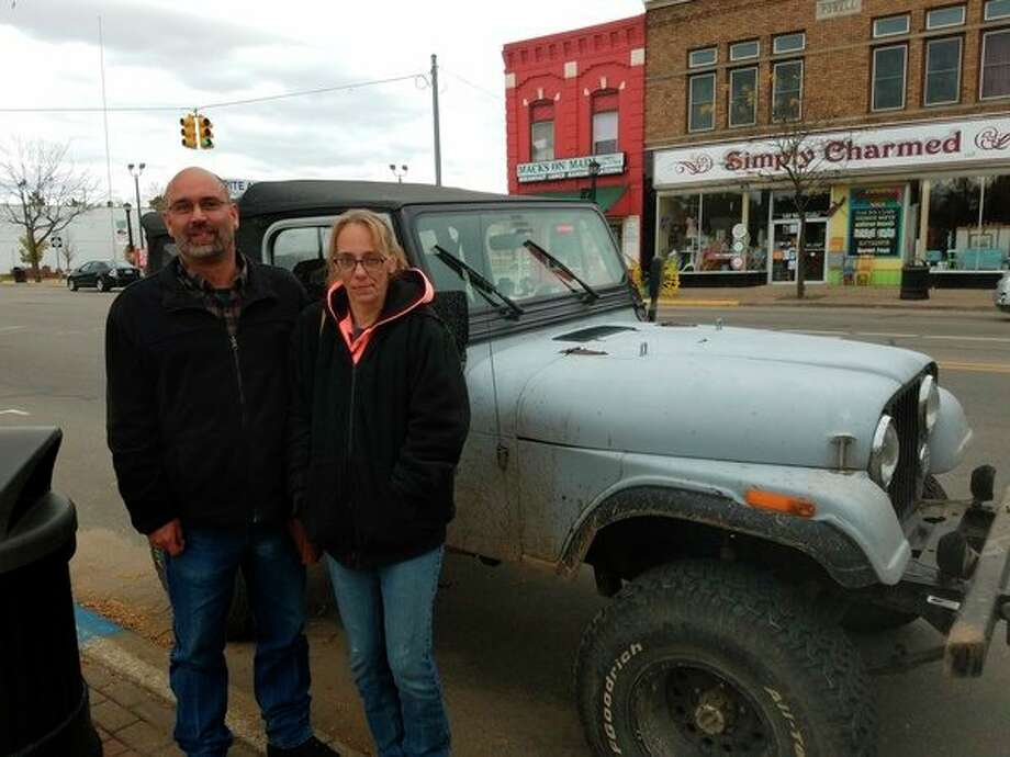 FIEL — Todd Devlin and wife Tammie, of Coldwater, are thankful for the Jeep Creep, because it draws in so many Jeep enthusiasts. He and his family all have Jeeps and enjoy meeting other like-minded people. (Photo by Tereasa Nims, for the Daily News, file)