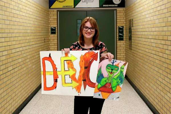 Willow Rice, a seventh grader at Laker Secondary School, was November's Subway Laker artist of the month. (Submitted Photo)