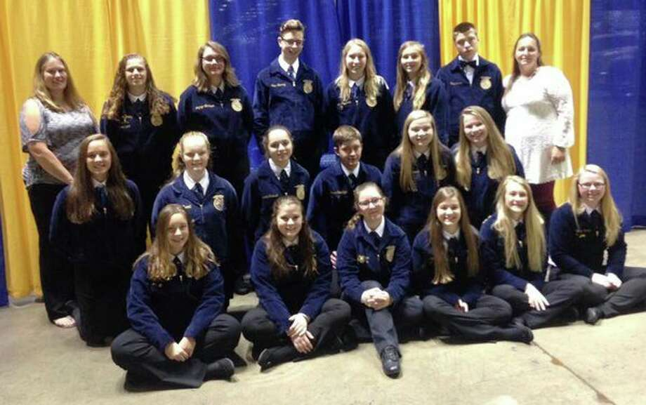 A number of area FFA students recently attended the National FFA Convention in Indianapolis, Indiana, and brought home several awards and medals. (Submitted Photo)