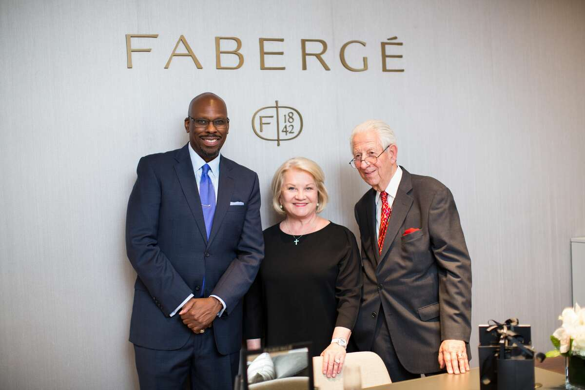 Inside Faberge's VIP store opening.