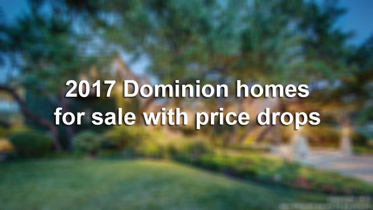 The price has dropped on these homes in the luxurious neighborhood of The Dominion that were all for sale in 2017.
