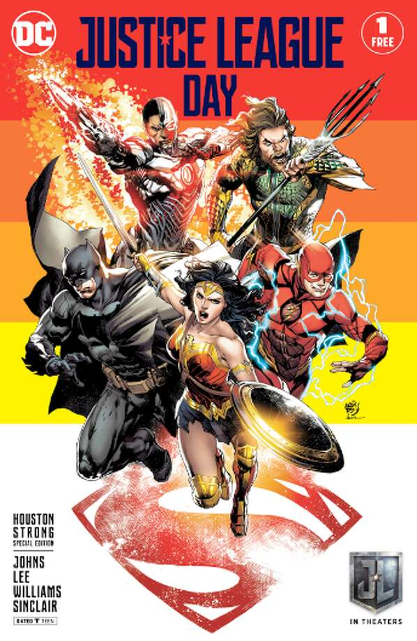 A new Houston Strong reprint of Justice League #1