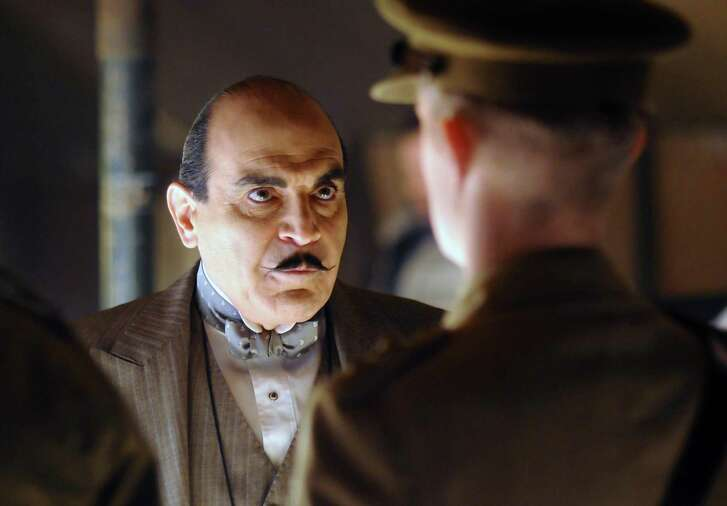 Hercule Poirot (David Suchet) may be the world's greatest detective, but he's also kind of a busybody.