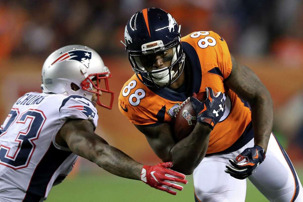 Demaryius Thomas, WR, Broncos Traded to the Texans for a fourth-round pick. The Broncos and Texans also will swap seventh-round picks.