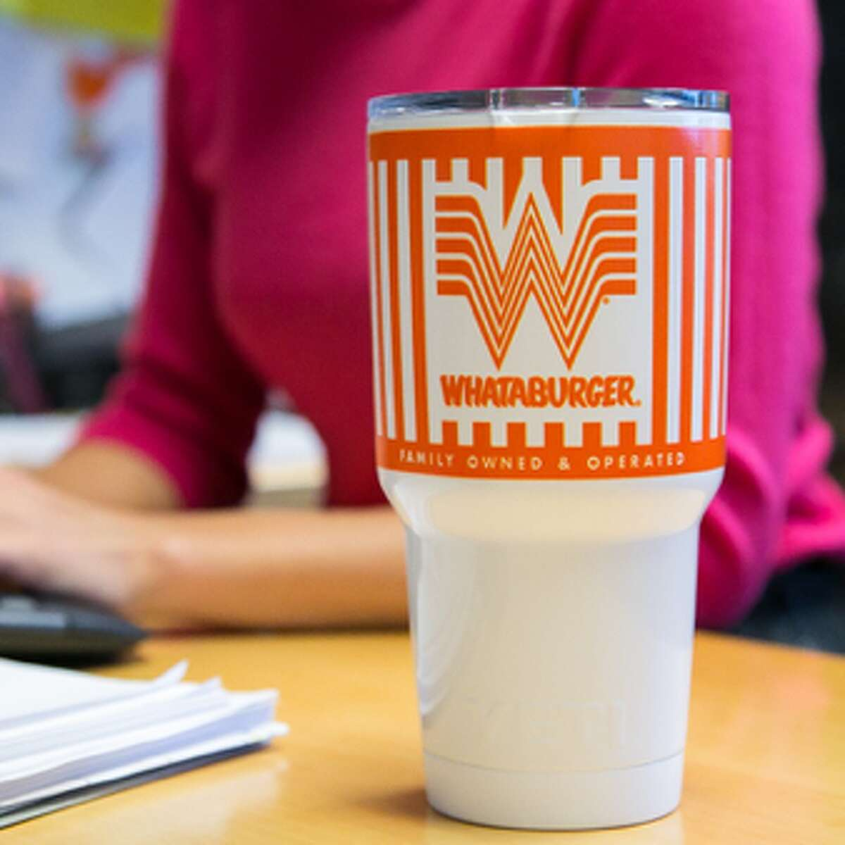 Whataburger and YETI partnered to create an official mug, branded with the burger company's Flying W.