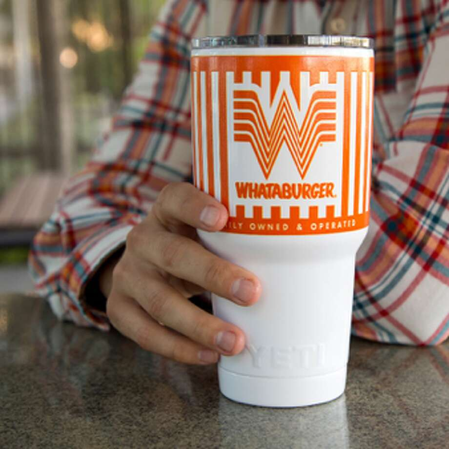 Whataburger and YETI partnered to create an official mug, branded with the burger company's Flying W. Photo: Courtesy, Whataburger