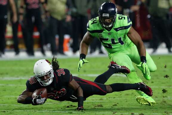 Arizona Cardinals running back Andre Ellington (38) during an NFL football game against the Seattle Seahawks, Thursday, Nov. 9, 2017, in Glendale, Ariz. The Seahawks won 22-16. (AP Photo/Rick Scuteri)