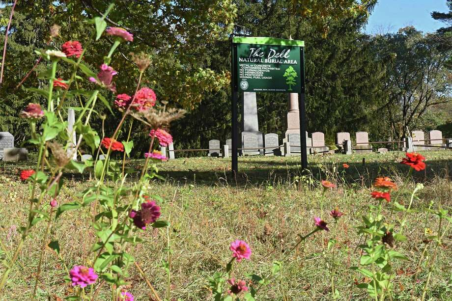 The Dell Natural Burial area at Vale Cemetery on Monday, Oct 23, 2017 in Schenectady, N.Y. Vale Cemetery offers green burials and is one of eight cemeteries certified by the Green Burial Council to offer natural burials.(Lori Van Buren / Times Union) Photo: Lori Van Buren / Albany Times Union / 20041985A
