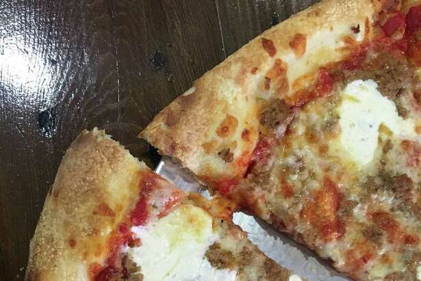 New York style pizza at Pizaro's