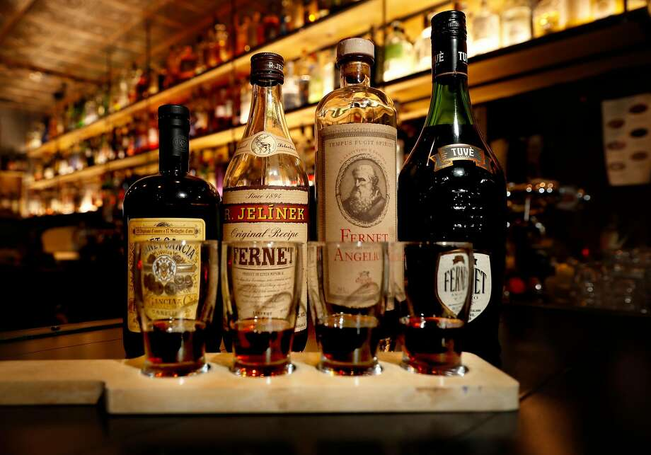 A flight of fernet brands at Bar 821 on Divisadero Street in S.F. Photo: Michael Macor, The Chronicle