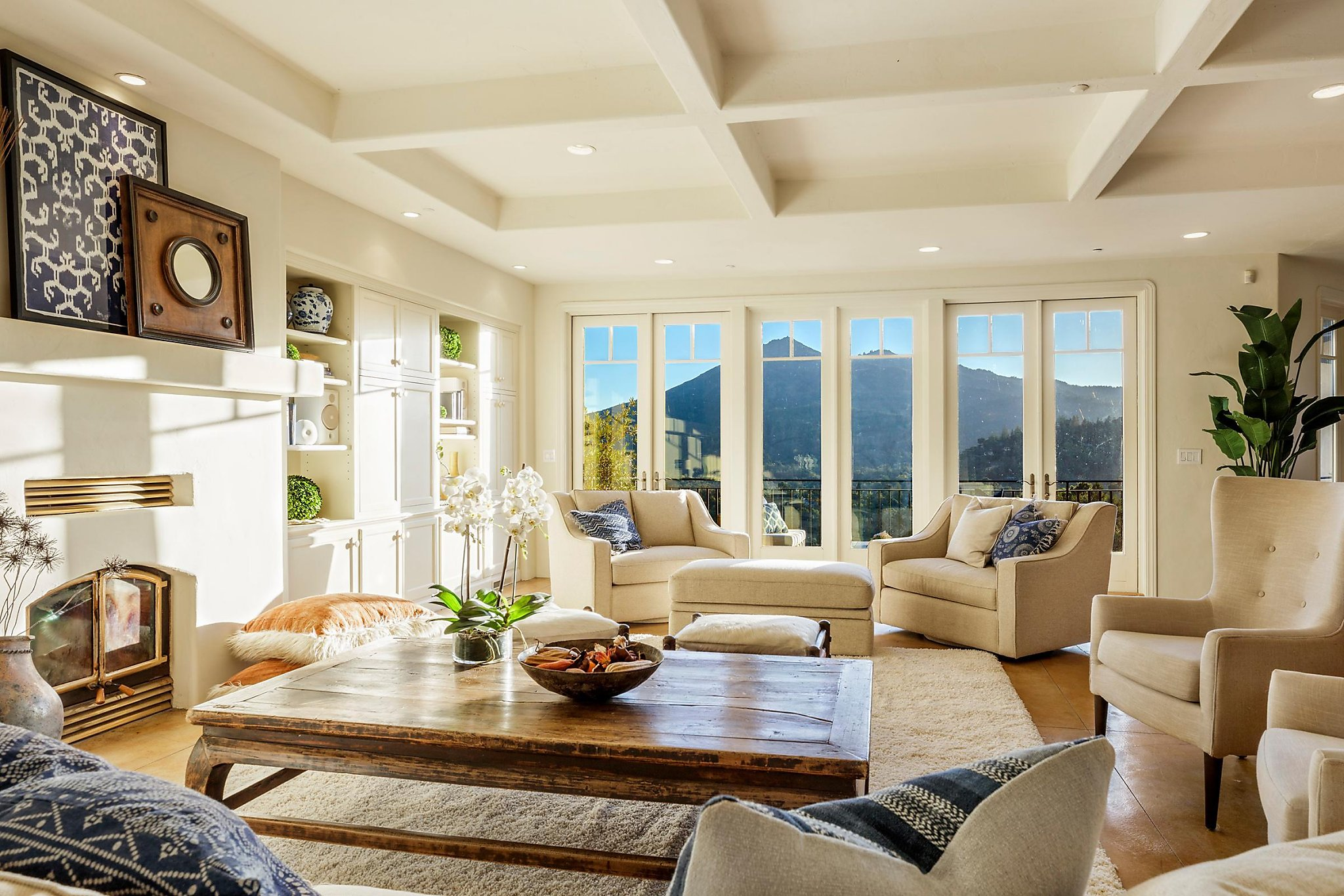 fascinating high end living room design   Kentfield estate boasts grand views, inviting outdoor ...