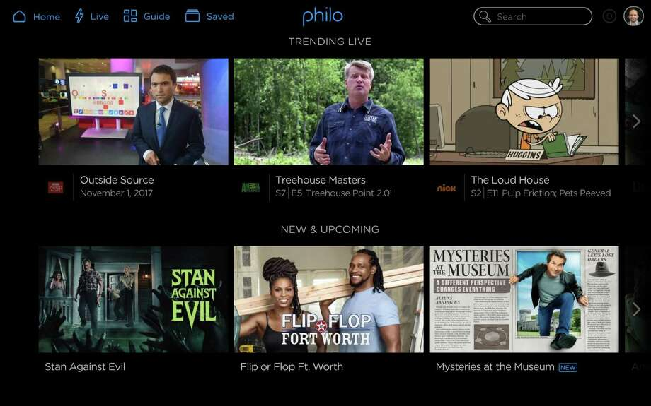 San Francisco startup Philo is starting an online streaming TV service that focuses on entertainment networks, with no sports or broadcast channels. The service, as shown in these screen shots,starts with a basic $16 per month package that includes 35 channels, including AMC, Comedy Central, Discovery Channel, Food Network, MTV and Travel Channel. Photo: Philo