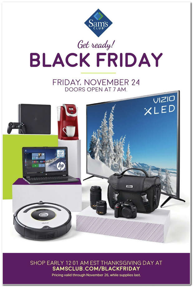 Sam's Club released its 2017 Black Friday ad circular and its 12 pages are packed with some of the season's top deals. Photo: Sam's Club