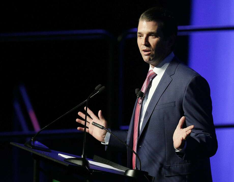 Donald Trump Jr.'s release of messages with WikiLeaks came after a report by The Atlantic. Photo: Brynn Anderson, Associated Press