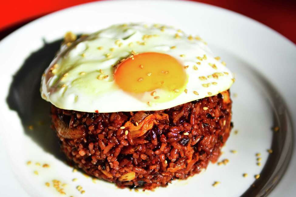 Kimchi fried rice at Sunhee's Farm & Kitchen in Troy. (Photo by Steve Barnes/Times Union.)