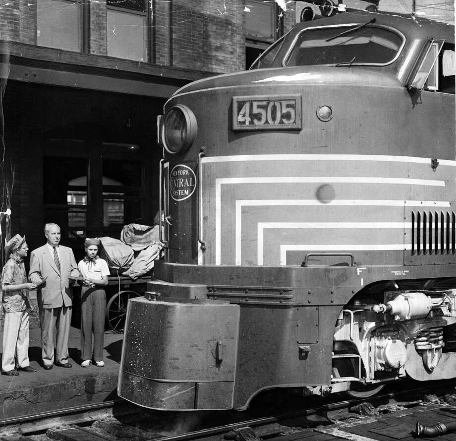 New York Central Railroad. Taken August 7, 1952. (Times Union Archive)